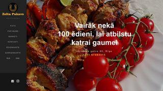 Zelta Pakavs, restorāns webpage