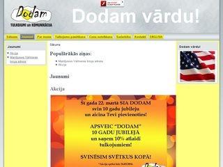 Dodam SIA webpage