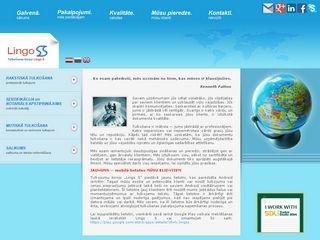 Lingo S SIA tulkošanas birojs webpage