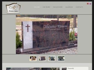 Akmens lietas SIA webpage