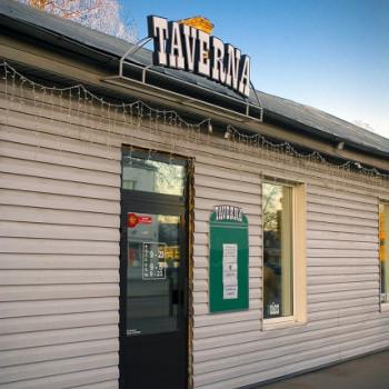 Taverna, kafejnīca Logo