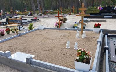 Granīta sētiņa, kapa vietas labiekārtošana