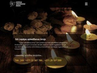 Liepājas apbedīšanas birojs SIA webpage