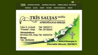 Trīs saujas smilšu, SIA webpage