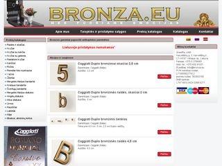 Bronza.eu webpage
