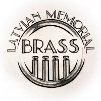 Latvian Memorial Brass Logo