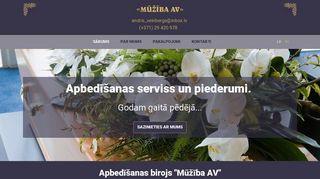 Mūžība AV SIA webpage