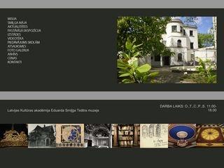 Eduarda Smiļģa teātra muzejs Mājaslapa