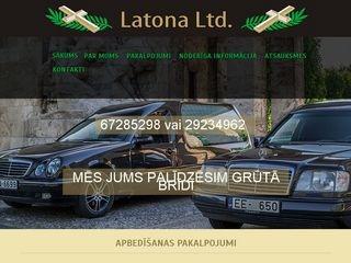 Latona Ltd SIA webpage