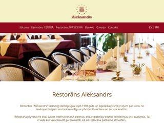 Aleksandrs restorāns, Centrs Mājaslapa