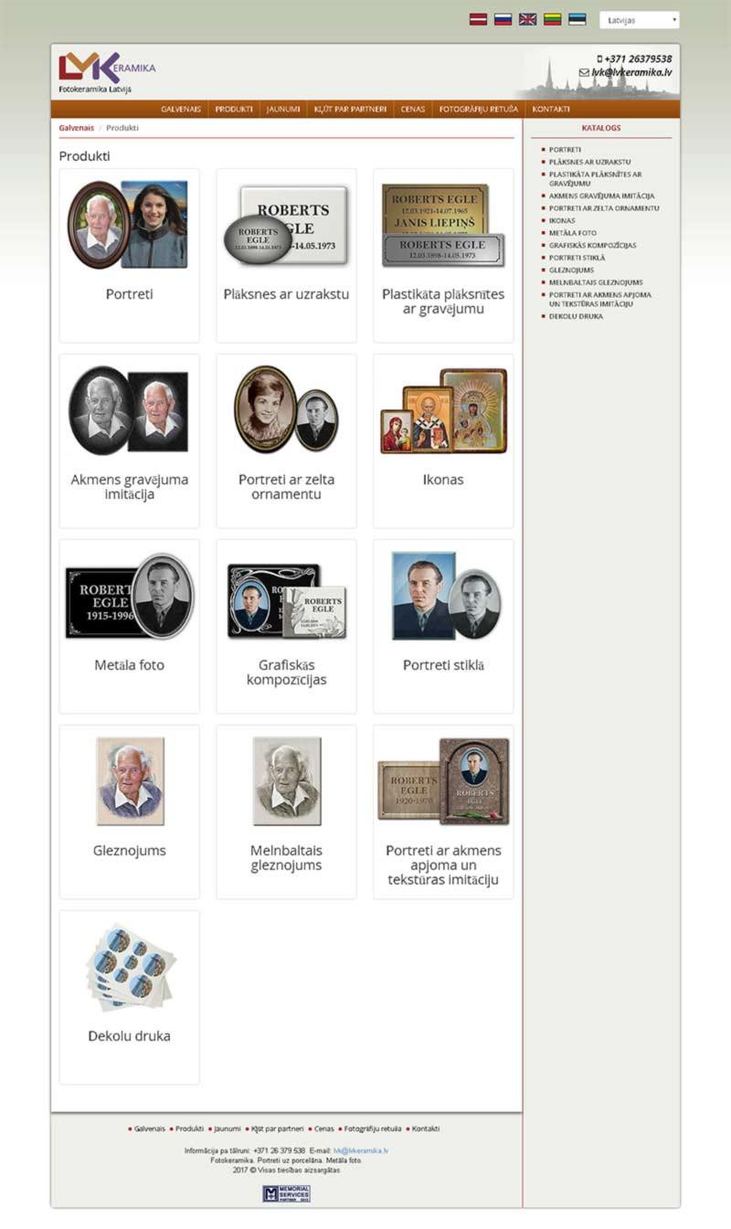 LVKeramika SIA webpage