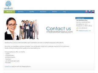 Abellana Plus SIA webpage