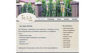 MSA Pluss Mājaslapa