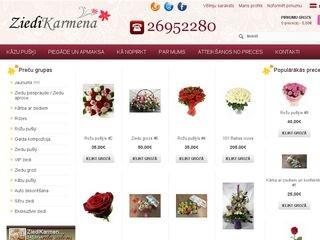 Karmena, ziedu salons Вебсайт