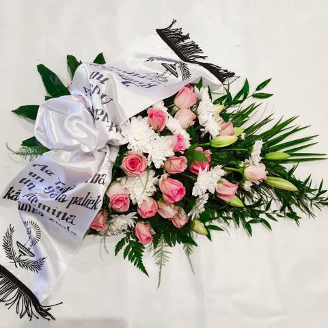 Štrauss, sēru floristika, Sēru vainags, vainags ziedu aģentūra